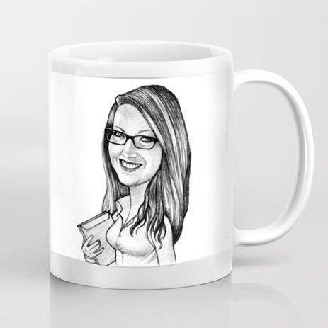 Custom Cartoon on Mug from Photo - example
