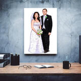 Custom Wedding Gift - Caricature Printed on Canvas