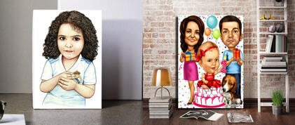 Kids Canvas Caricature