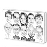 Business Logo Caricature on Photo Block