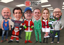 Corporate Christmas Caricature example 6