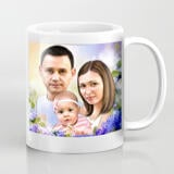 Family Caricature on Coffee Mug