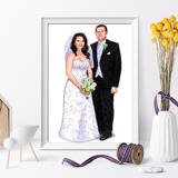 Wedding Portrait Printed on Poster