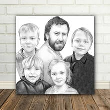 Printed on Canvas caricature