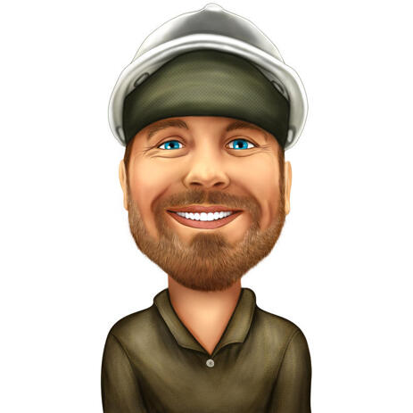 Custom Individual Engineer Caricature in Colored Style from Photos - example