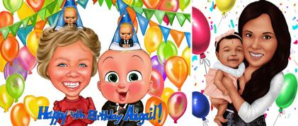 Kid Birthday Caricature