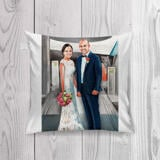 Pencils Portrait of Bride and Groom as Pillow Print
