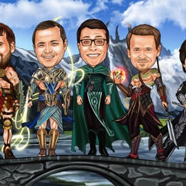 Filmer Groomsmen Cartoon: Game of Thrones eller någon annan film