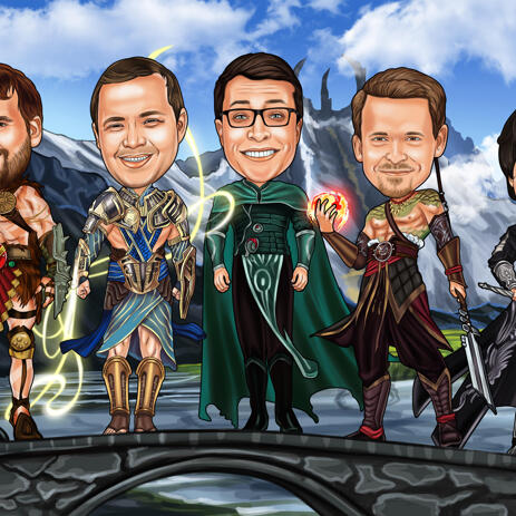 Movies Groomsmen Cartoon: Game of Thrones or Any Other Movie - example