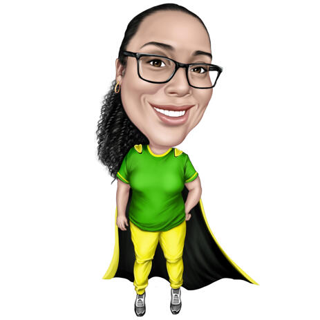 Superhero Caricature from Photos - Coworker Gift - example