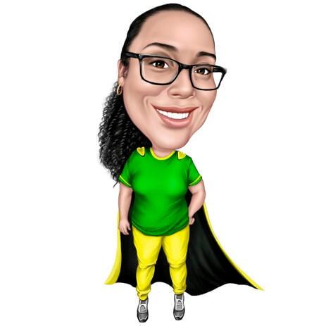 Superhelden-Karikatur von Fotos - Mitarbeitergeschenk - example