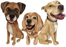 Pet Caricature Tag for Collar example 1
