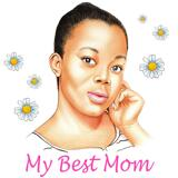 Simple Pencils Portrait Drawing in Honor of Mother's Day on Demand