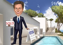 Caricature d'agent immobilier example 3