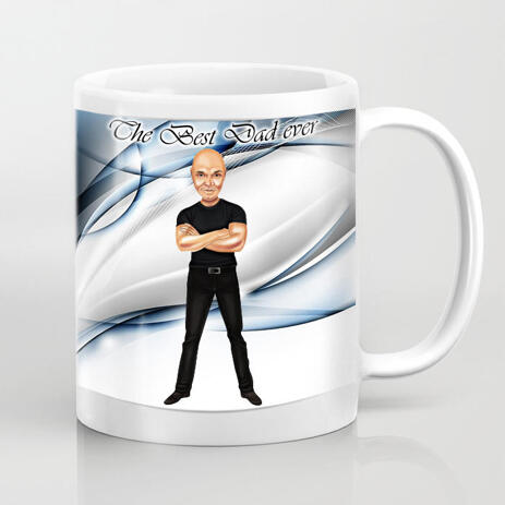 Personalized Mug: Father's Day Cartoon Drawing from Photo Online - example