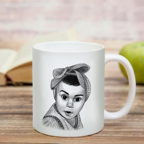 Kid Portrait from Photos as Printed Mug - example