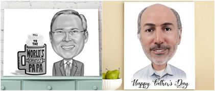 Ziua Tatălui Caricatura Canvas