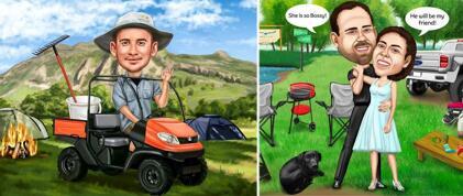 Camping Caricature