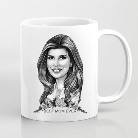 Personalized Mug: Printed Cartoon Drawing on Mug - example