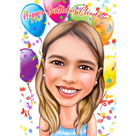 Happy Birthday Caricature from Photos for Birthday Gift - example