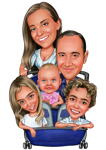 Family Caricatures example 11