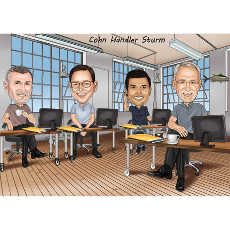 Office Caricature from Photos - Employees Caricatures - example