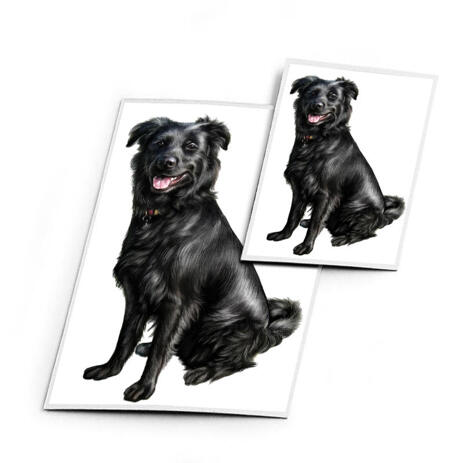 Dog Caricature Printed on Magnets - example
