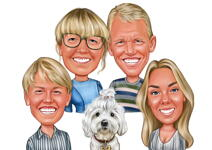 Family Caricatures example 7
