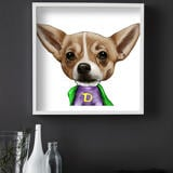 Dog Caricature from Photos Printed as Poster