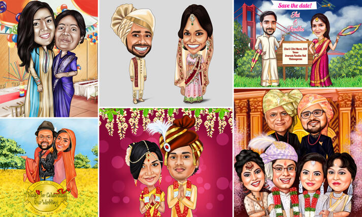 Indian Caricature large example