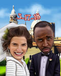 Save the Date Caricature example 15