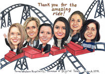 Rollercoaster Caricature example 7
