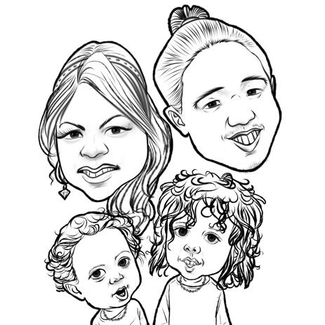 Exaggerated Outline Caricature Drawing from Photos - example