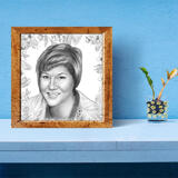 Personalized Photo Print: Custom Portrait Drawing from Photo