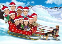 Caricatura Grupo De Navidad example 6