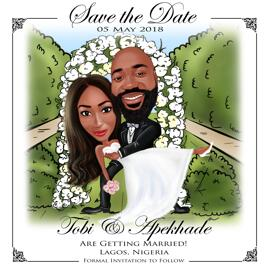 Save the Date Caricature