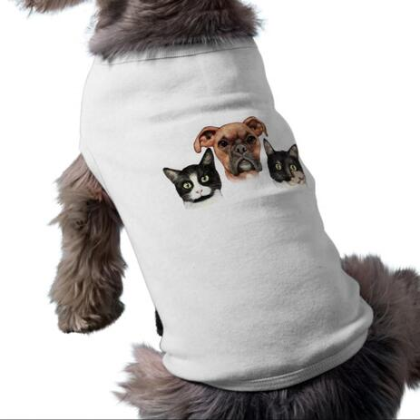Group Pets Caricature Pet Shirt - example