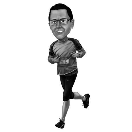 Jogging-Karikatur aus Fotos - example