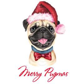 Weihnachtshaustier-Karikatur von den Fotos in farbigem Digital-Stil