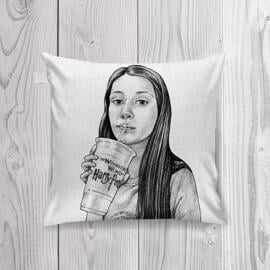Teen Caricature from Photos as Pillow