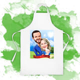 Custom Print on Coking Apron: Digital Cartoon Drawing of Family