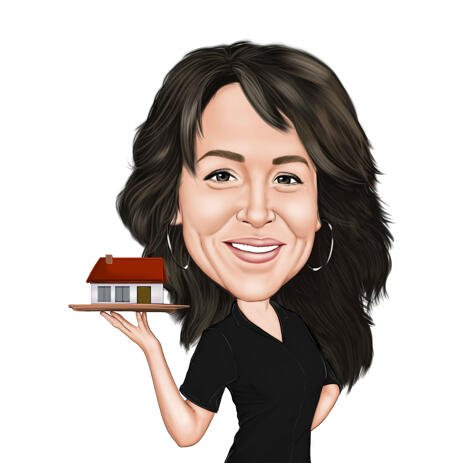 Head and Shoulders Realtor Caricature from Photos - example