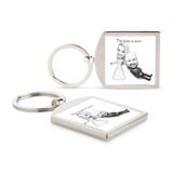 Funny Wedding Caricature for Bride and Groom Printed on Keyrings