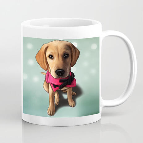 Funny Pet Mug with Caricature - example