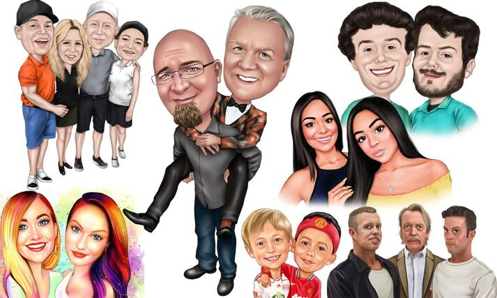 Friends Caricature large example