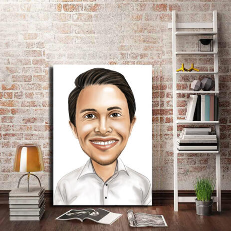 Business Caricature on Canvas - example