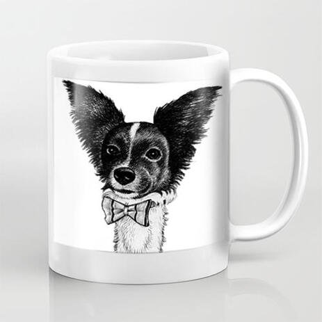 Custom Pet Caricature Mug from Photos - example
