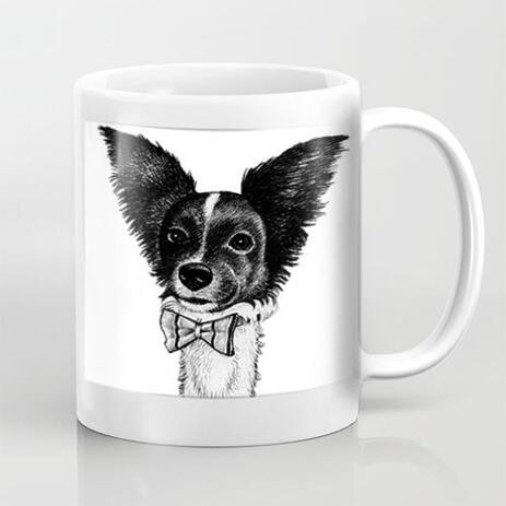 Custom Pet Caricature Mug from Photos - example