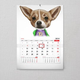 Pet Calendar Caricature