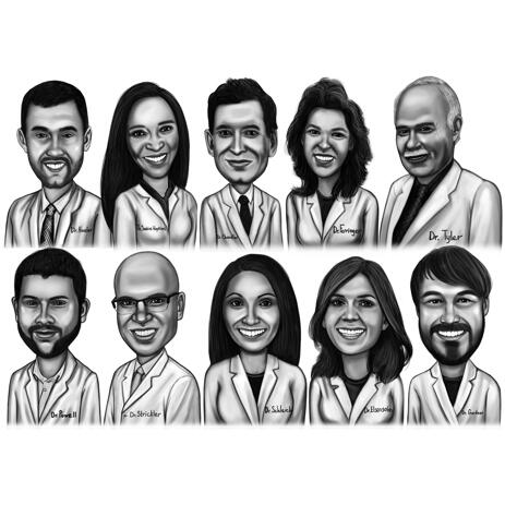 Doctors Caricature Portrait from Photos - example